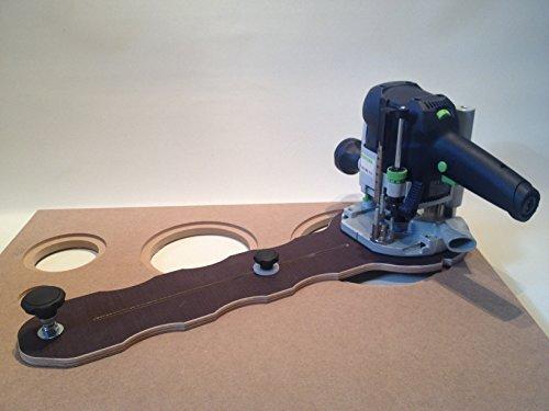 Fräszirkel MC8002 für die Oberfräse, Lochkreise Ø3-76cm, HiFi, Möbelbau, Fräshilfe, Universal